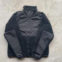 REIMGLA Sheep Boa Fleece Stand Jacket(Black)