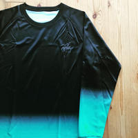 rgla Gradation Raglan Long-T(emerald Green)