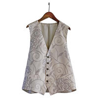 Chichibu Meisen MEN'S VEST  -Flowers  花  -