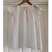 Lame Chiffon BLOUSE  -Gray-
