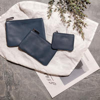 8512 BREV/LEATHER POUCH L/NAVY(61)
