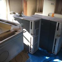 宮崎県内限定 中古工事価格込み。三菱電機業務用エアコン 天井カセット4方向 5馬力 同時ツイン 三相200V 2013年製 R410A 冷暖
