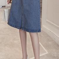 韓流 ファッション デニムスカート