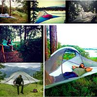 アウトドア  キャンプ テント Skysurf ハンギング ツリーテント 1人 超軽量