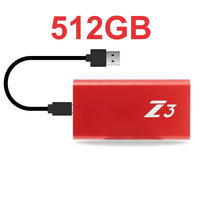PS4 USB 外付け SSD KingSpec Z3  512GB Type-C USB3.1