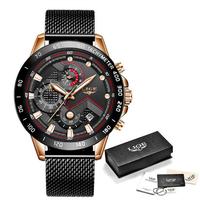 トレンド 腕時計 LIGE 2019 新 ビジネス 高級クォーツ時計 防水