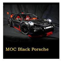レゴ互換 ブラックポルシェ 911 GT3 RS  テクニック LEGO互換品