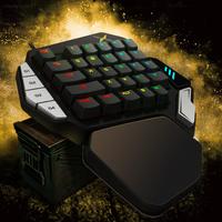 DELUX PUBG用 片手メカニカルゲーミングキーボード LOL eスポーツ