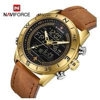 海外ブランド NAVIFORCE 腕時計 メンズ カジュアル レザー スポーツウォッチ