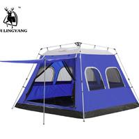 HuiLingyang テント 5-8人 油圧 自動 屋外 大型 旅行 ピクニック 防水 防風 アウトドア キャンプ