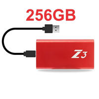 PS4 USB 外付け SSD KingSpec Z3  256GB Type-C USB3.1