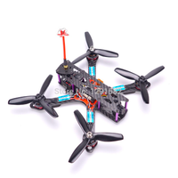 micro drone Flysky マイクロドローン デュアルアームカーボンファイバーフレーム F3 アクロ飛行コントローラ 20A BLHeli- s ESC RS2205