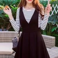 韓流 ファッション ノースリーブ カジュアル ドレス
