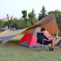 DesertFox キャンプ用 サンシェルター 5〜8人用 アウトドア 防水 およびUVカットビーチサンパラソル