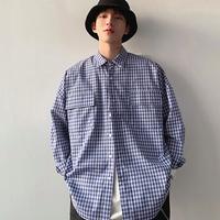 ストリート ファッション ギンガムチェック シャツ