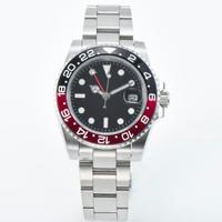 ウォッチ 腕時計 赤と黒の ベゼル サファイア