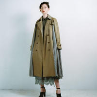 Cupro Stripe Trench Coat