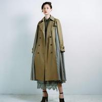 Cupro Stripe Trench Coat