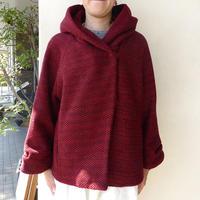 marbleSUD(マーブルシュッド) WAFFLE TWEED SHORT COAT コート RED 065F042195