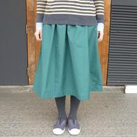 marbleSUD(マーブルシュッド) ウェザー ギャザーSKIRT GREEN 【送料無料】  076S014136