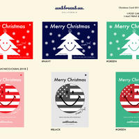 ※6種類(各デザイン1枚)セット販売/Christmas Card・sun&breeze&sea.・アート・メッセージカード・ハガキ  ・クリスマスカード・クリスマス2018・ポストカード
