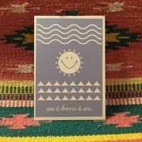 ポストカード・sun&breeze&sea.・アート・メッセージカード・ハガキ