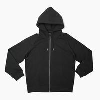 Raglan Zip Hooded Sweatshirt  Black  19S-104