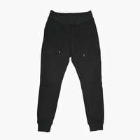 Slim-fit Tapered Sweat Pants  Black  19S-202