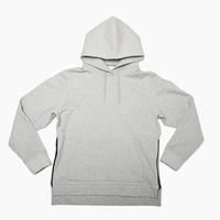 Pullover Side Zip Hooded Sweatshirt  Heather Gray  19S-103