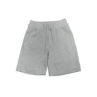 Boxy Cut Off Sweat Short Pants Heather Gray  19S-218