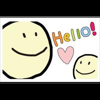 ポストカード「Hello」デジタルイラスト