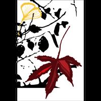 ポストカード「冬の落ち葉」イラスト