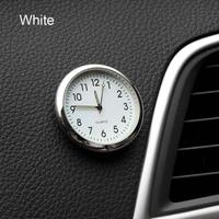 カー アクセサリー 時計 自動車ステッカー 装飾(ホワイト)