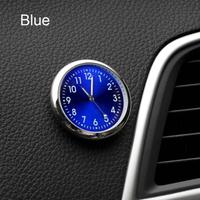 カー アクセサリー 時計 自動車ステッカー 装飾(ブルー)
