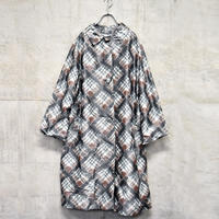70's~80's design check nylon coat