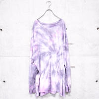 L/S tie dye Tee 'gray × pink'