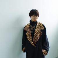 """80's  VISON double design jacket """"leopard × black"""""""