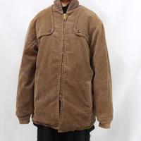 60's  proper care corduroy zip up jacket