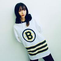 "90's ""NHL Boston Bruins""  hood l/s T-shirt"