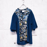 velor china design open collar shirt