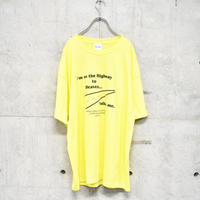 00s yellow printed tee
