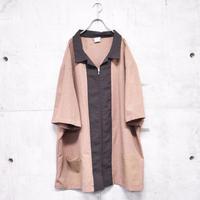 S/S 2tone zip up jacket