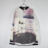 デザインプリントシャツ  水爆実験/S-0023