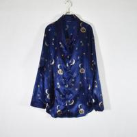 総柄ショールカラーパジャマシャツ/S-0035