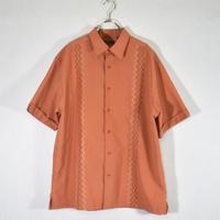 S/S デザインシャツ オレンジ/SS-0021