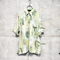 ~80s short sleeve printed rayon shirt