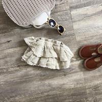 ●sale●切りっぱなしfrill design bloomer スカート