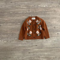 flower knit cardigan