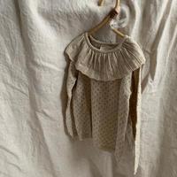 bigカラー透かし編みknit