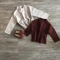 ●sale●ノーカラーポケット付シャツ
